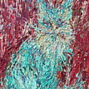 Expressionist Cat Oil Painting.3 Art Print