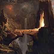 Expulsion. Moon And Firelight Art Print