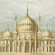 Exterior Of The Saloon From Views Of The Royal Pavilion Art Print by John Nash