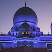 Exterior View Of Sheikh Zayed Grand Art Print