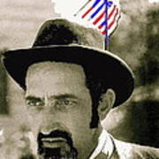 Extra With Flag In Hat The Great White Hope Set Globe Arizona 1969-2008 Art Print