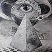 Eye Of The Dark Star - Journey Through The Wormhole Art Print