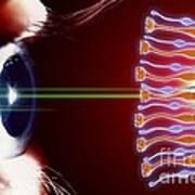 Eye, Rods And Cones Of Retina, Artwork Art Print