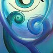 Eye Triple Koru Art Print