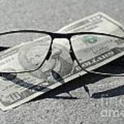 Eyeglasses And Money Art Print