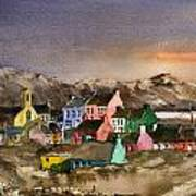 Eyeries Village Beara West Cork Art Print