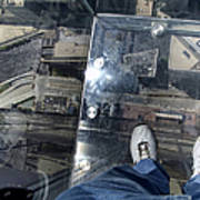 Eyes Down From The 103rd Floor One Big Step Art Print