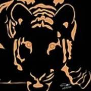 Eyes Of A Tiger 3 Art Print