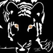 Eyes Of A Tiger 4 Art Print