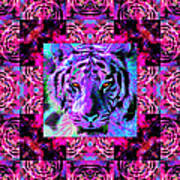 Eyes Of The Bengal Tiger Abstract Window 20130205p0 Art Print by Wingsdomain Art and Photography