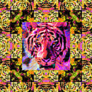 Eyes Of The Bengal Tiger Abstract Window 20130205p80 Art Print