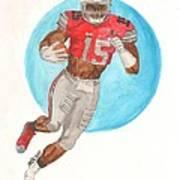 Ezekiel Elliott Ohio State Buckeyes Art Print