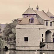 Ezelport City Gate In Bruges Art Print