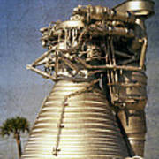 F-1 Rocket Engine Art Print