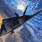 F-117 Nighthawk - Team Stealth Art Print by Stu Shepherd