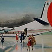 F-27 At Columbus Ohio Art Print