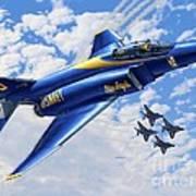 F-4 Phantoms In Blue Art Print