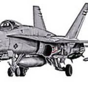 F/a-18c Forward Quarter Art Print