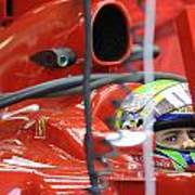 F1 Driver Felipe Massa Art Print