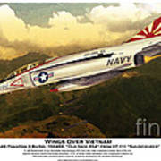 F4-phantom Wings Over Vietnam Art Print