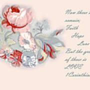 Fabric Floral Art Print