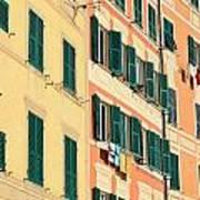 facades in Camogli Art Print