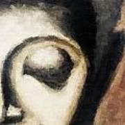 Face Embossed Art Print