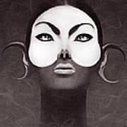 Face Moon Art Print by Yosi Cupano