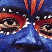 Face Of Carnival Art Print by Ian Cumming