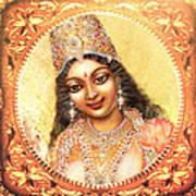 Face Of The Goddess - Lalitha Devi  Art Print
