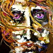Face Series 4 Knowing Art Print by Michelle Dommer