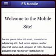 #facebook Style #monile #website #by Art Print