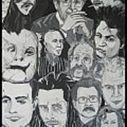 faces of Gary Oldman Art Print