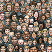 Faces Of Humanity Art Print