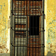 Faded Wooden Shutters In Cuba Art Print