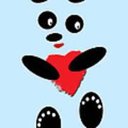 Fading Like A Flower. Panda In Love. 02 Art Print