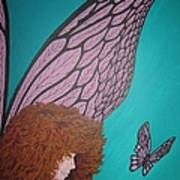 Faerie And Butterfly Art Print