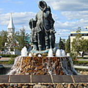 Fairbanks Statue Art Print