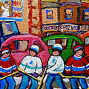 Fairmount Bagel Street Hockey Game Art Print