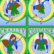 Fairy Angels Art Print