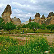 Fairy Chimneys In Cappadocia-turkey Art Print