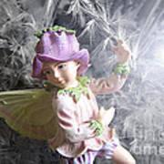 Fairy Hiding From The Light Art Print
