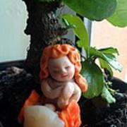 Fairy Puney Cuteness Wiseness Ooak Doll Doll House Print by TriyaandNora Sculpts