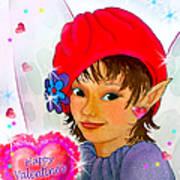 Fairy Valentine Art Print