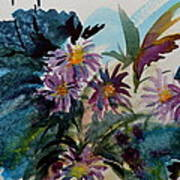 Fairyland Asters Art Print
