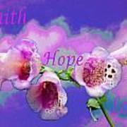 Faith-hope-love Art Print