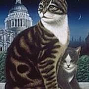 Faith, The St. Paul's Cat Art Print