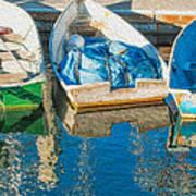 Faithful Working Boats Art Print