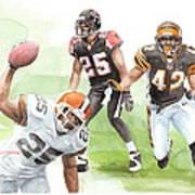 Falcons Bengals Football Watercolor Portrait Art Print
