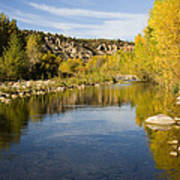 Fall Along River Sierra Ancha Art Print